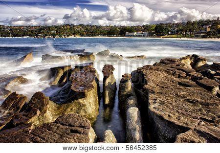 Rocks and waves, Balmoral Beach, Sydney