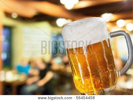 Beer Glass In Pub