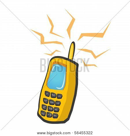 Vector doodle ícone de telefone móvel. telefone dos desenhos animados.