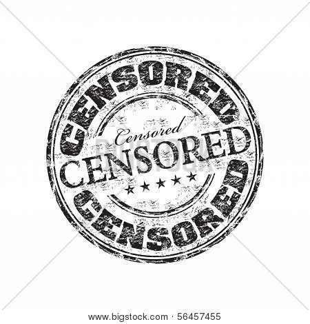 Censored grunge rubber stamp