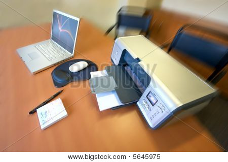 Printer And Laptop