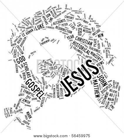 Face of Jesus Christ - Word Art | Tag Cloud