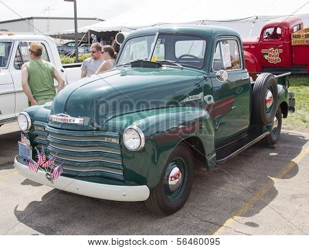 1950's Chevy Pickup Truck Side View