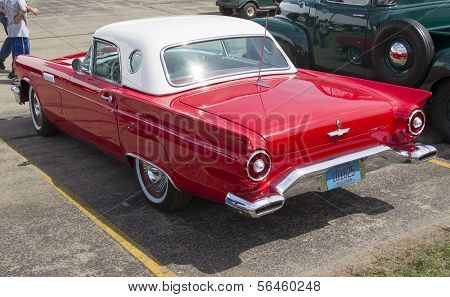 1957 Red Ford Thunderbird Side View