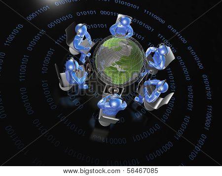 Round Dance Of Blue Mans