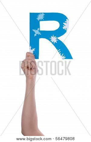 Person Holding R