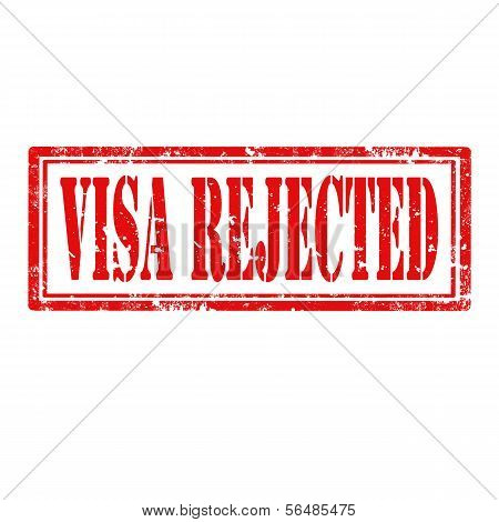 Visa Rejected-stamp