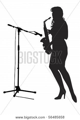 Girl_saxophonist