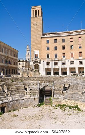 Amphitheatre. Lecce. Puglia. Italy.