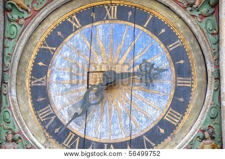 Clock on Holy Spirit Church in Tallinn, Estonia