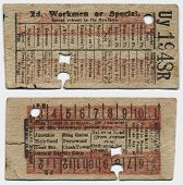 image of keepsake  - Antique Train Ticket - JPG