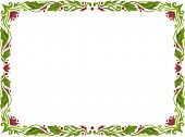 stock photo of leafy  - Illustration of a Frame with Leafy Vines for Borders - JPG