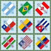 Flags Of The Countries Of South And North America