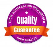 picture of 100 percent  - Purple high quality guarantee badge - JPG