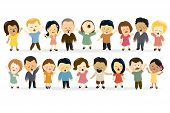 picture of adoration  - Illustration of people of different nationalities singing - JPG