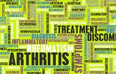 pic of joint inflammation  - Arthritis as a Medical Condition in Concept - JPG