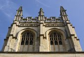 foto of grotesque  - Merton College chapel tower with gargoyles and grotesques - JPG