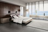 stock photo of household  - 3d bed room interior - JPG