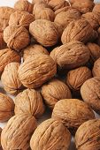 stock photo of ground nut  - The ground walnuts in bulk - JPG