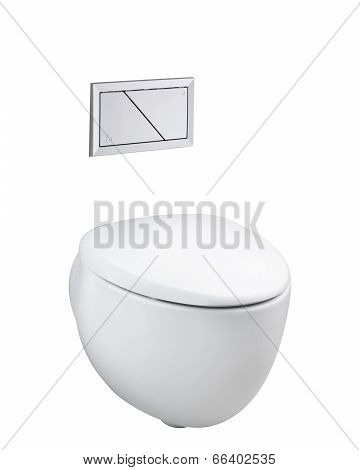 ceramic toilet bowl and economic flush press