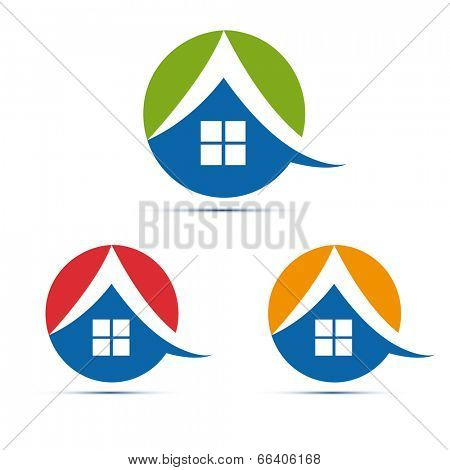 house, home icon set