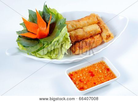 Spring roll (CHA GIO) a traditional Vietnamese fried dish