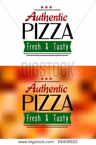 Authentic pizza labels