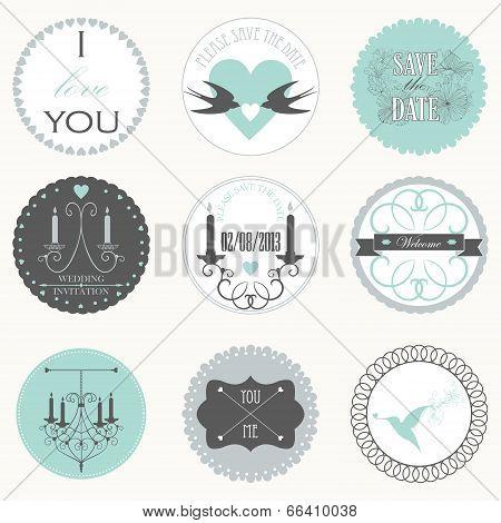 decorative wedding stickers