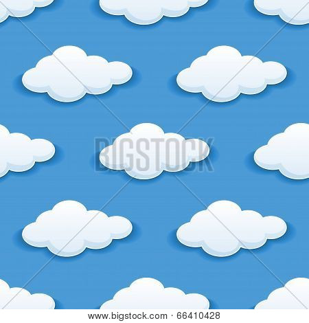 background with fluffy clouds