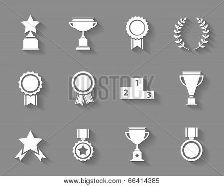 Set of award  success and victory icons