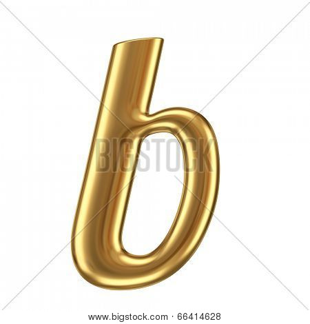 Alphabet lowercase letter from gold. Isolated on white.
