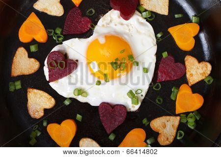 Hearts Of Carrots, Potatoes, Beets And Eggs