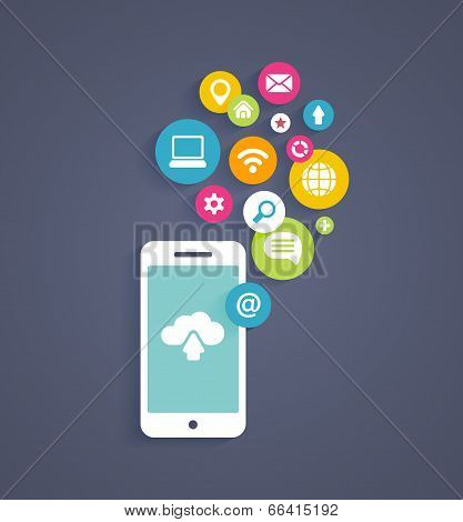 Cloud computing on a mobile