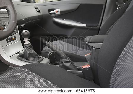 Car interior with back seats