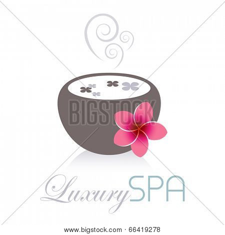Luxury spa flower and bowl design.