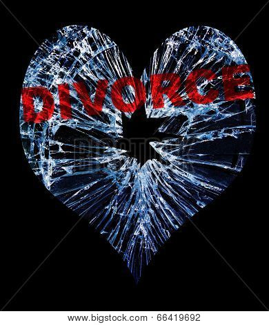Glass Divorce Heart