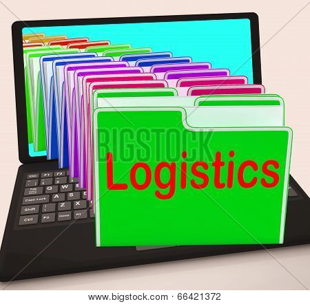 Logistics Folders Laptop Mean Planning Organization And Coordina