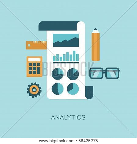 modern vector analytics concept illustration