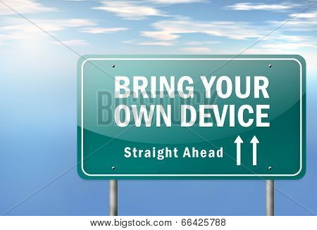 Highway Signpost Byod - Bring Your Own Device