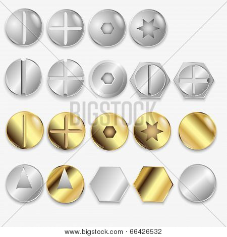 Bolts And Screws, Isolated