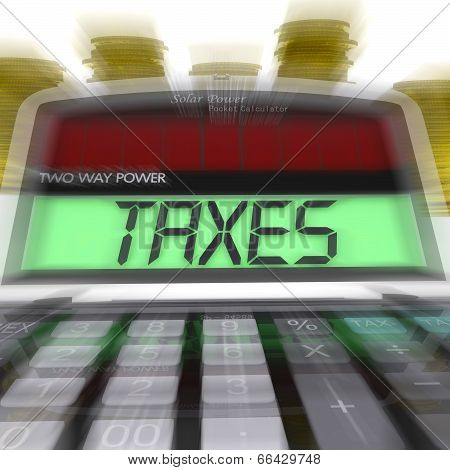 Taxes Calculated Means Taxation Of Income And Earnings