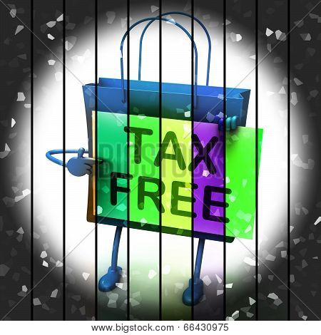 Tax Free Shopping Bag Represents Duty Exempt Discounts