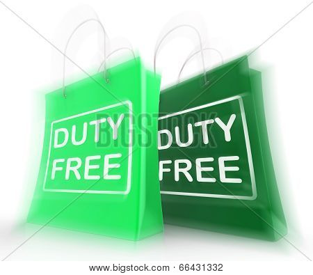 Duty Free Shopping Bag Represents Tax Exempt Discounts