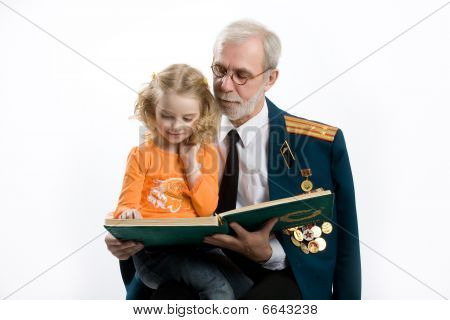 Little Girl And Old Man