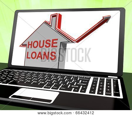 House Loans Home Laptop Means Borrowing And Mortgage