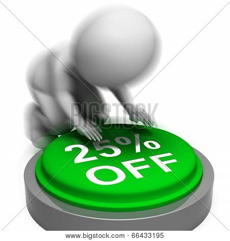 Twenty-five Percent Off Pressed Means 25 Reduced Price