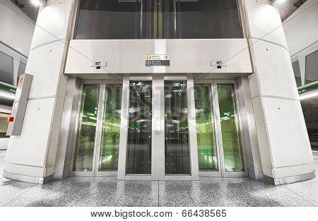 Subway Station Interior, Elevator