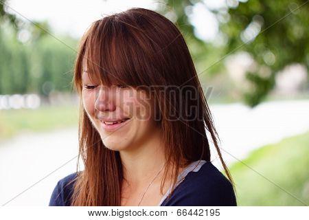 Girl cries