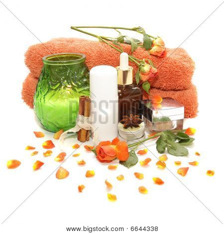 Spa Products, Cosmetics And  Roses