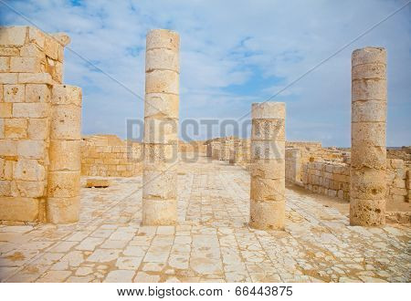 Single Stanging Columns In The Ruins